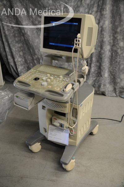 Aloka ultrasound machine with display