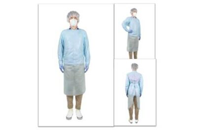 man dressed in personal protective equipment