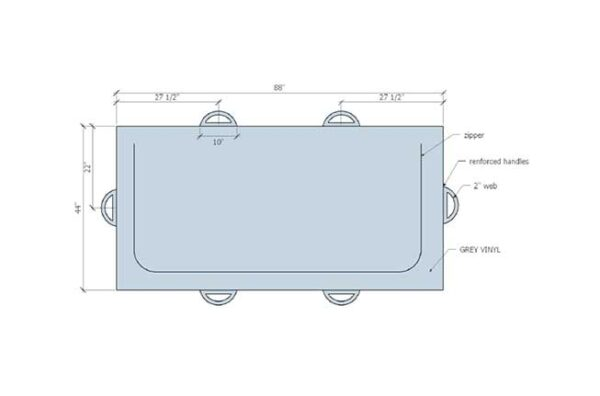morgue body bag product layout dimension and features