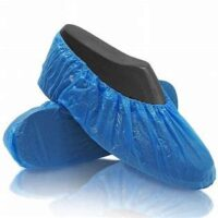 blue fitted disposable shoe covers