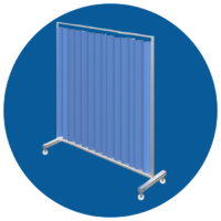 Marlux blue disposable antibacterial curtains